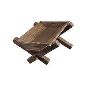 Culla semplice per Bambinello legno dipinto presepe Kostner 9,5 cm s1