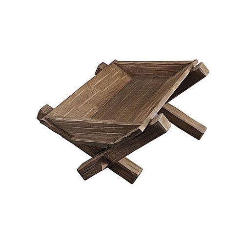 Culla semplice per Bambinello legno dipinto presepe Kostner 9,5 cm 1