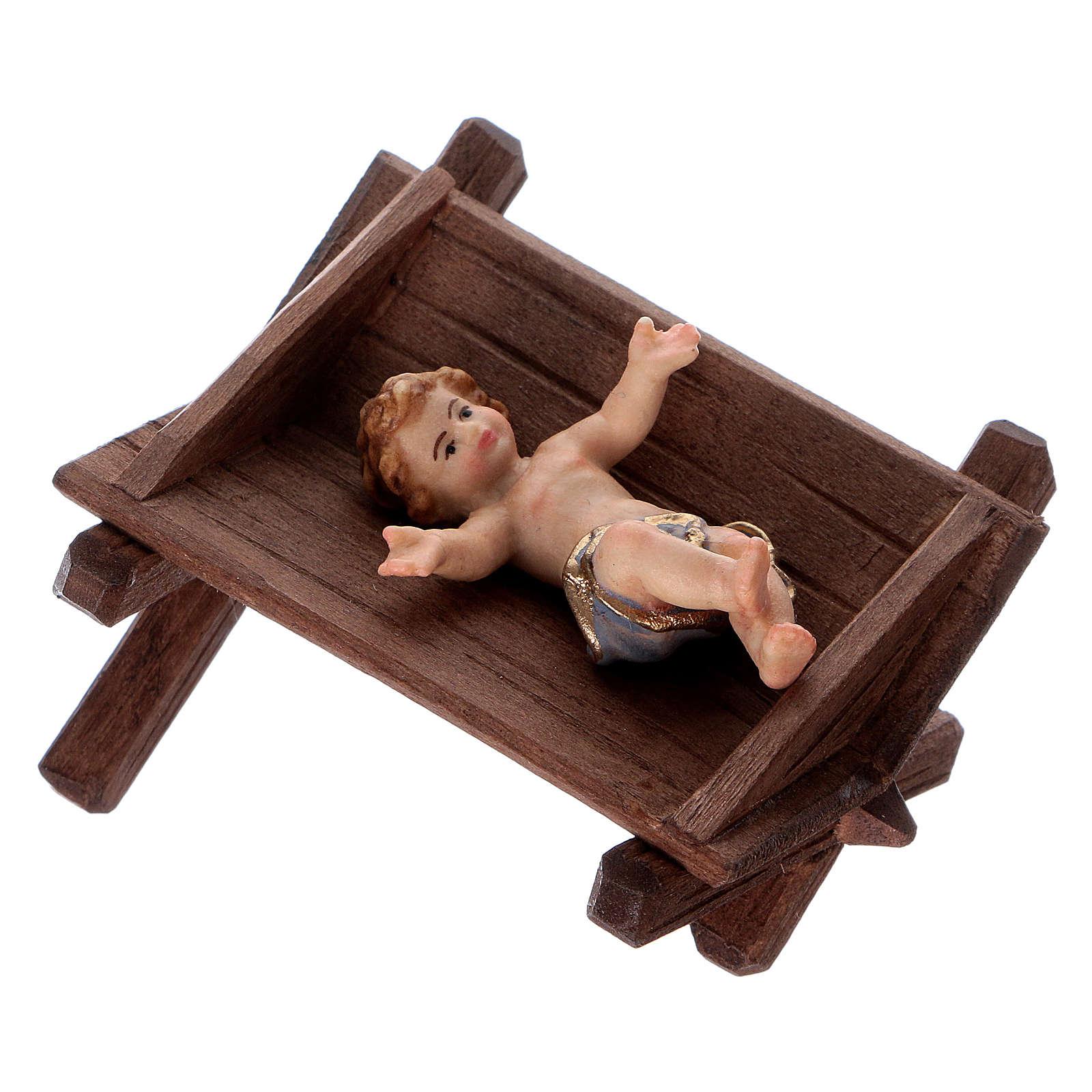 Berceau simple pour Enfant Jésus bois peint crèche Kostner 12 cm 4