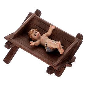 Berceau simple pour Enfant Jésus bois peint crèche Kostner 12 cm s3