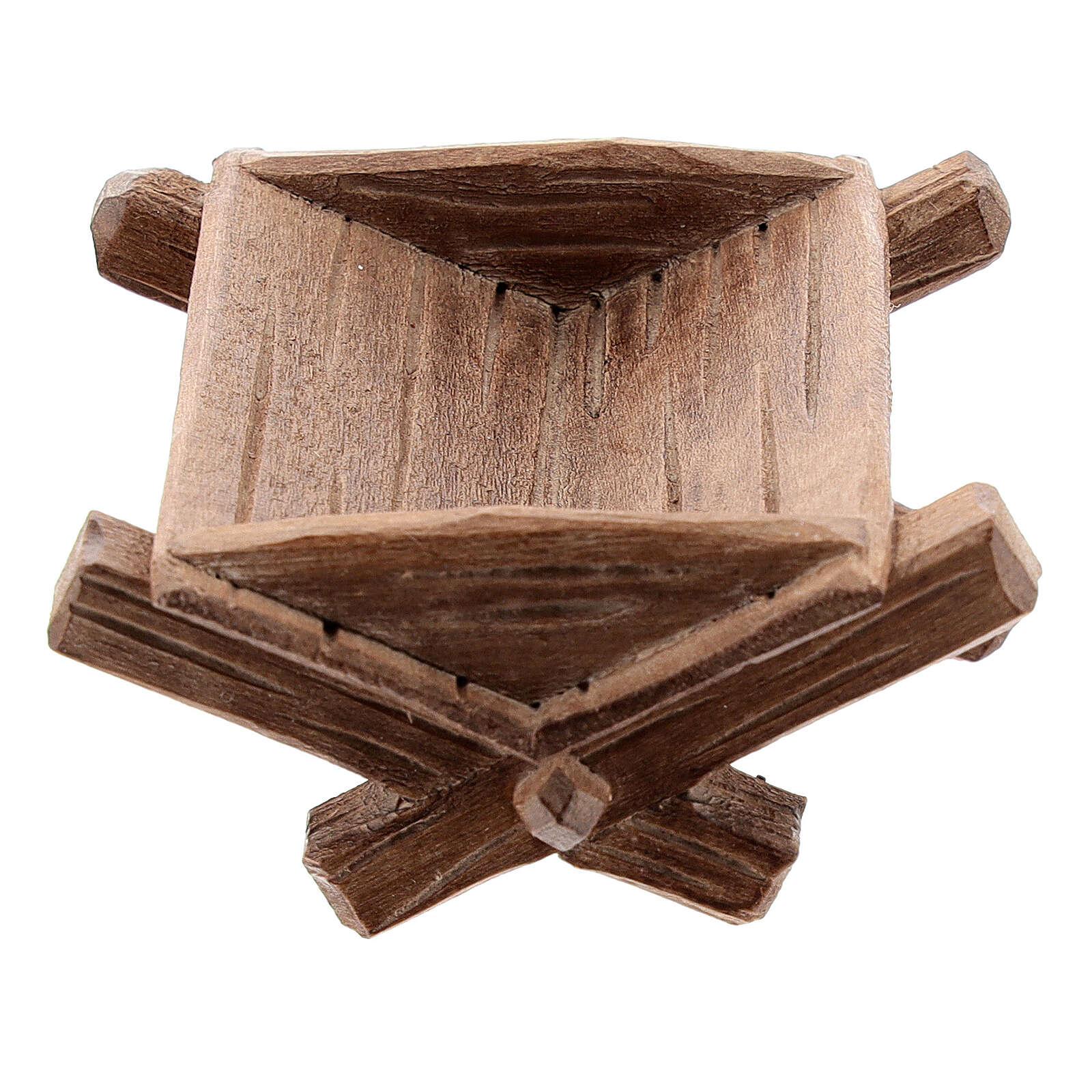 Culla semplice per Bambinello legno dipinto presepe Kostner 12 cm 4