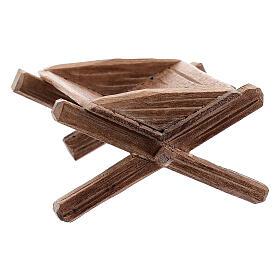 Culla semplice per Bambinello legno dipinto presepe Kostner 12 cm s3