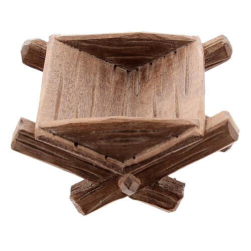 Culla semplice per Bambinello legno dipinto presepe Kostner 12 cm 1