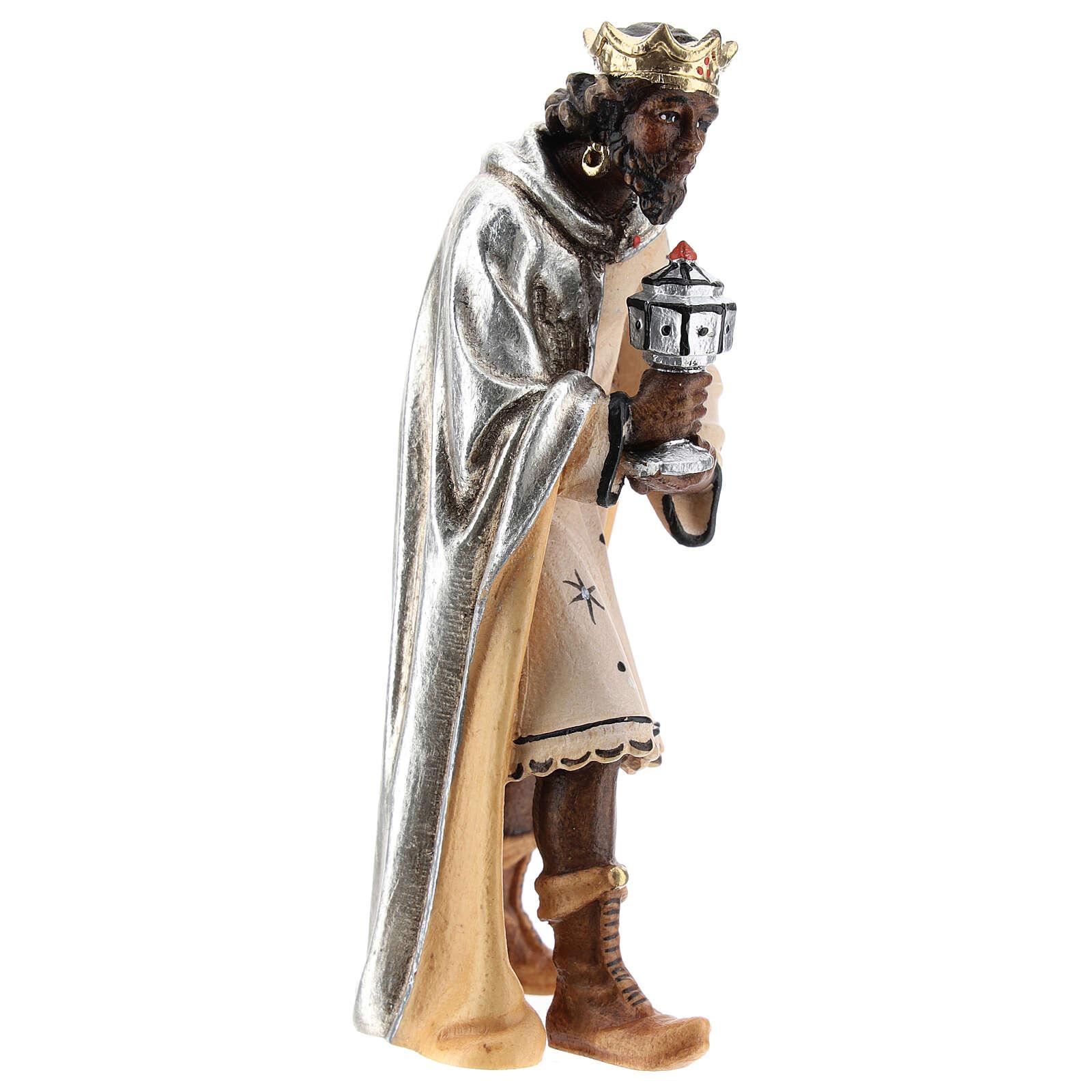 Roi maure bois peint crèche Kostner 12 cm 4