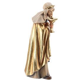 Rey blanco madera pintada belén Kostner 12 cm s4