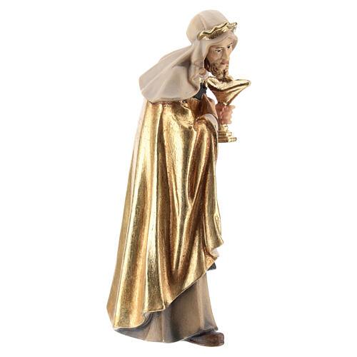Rey blanco madera pintada belén Kostner 12 cm 4