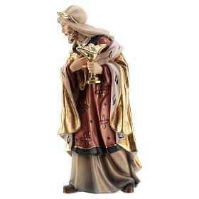 White wise men 12 cm, nativity Kostner, in painted wood s3