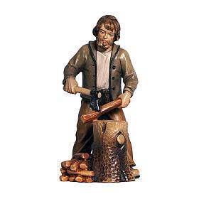 Woodsman in painted wood for Kostner Nativity Scene 12 cm s1