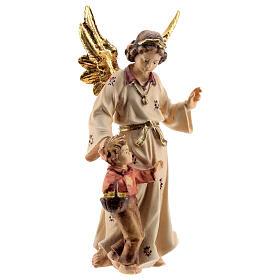 Ángel de la guarda madera pintada Kostner belén 9,5 cm s2