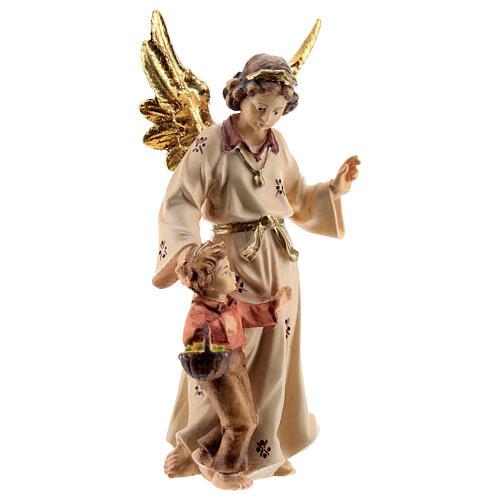 Ángel de la guarda madera pintada Kostner belén 9,5 cm 2