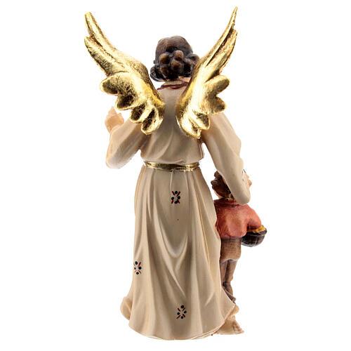 Ángel de la guarda madera pintada Kostner belén 9,5 cm 3