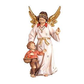 Ángel de la guarda madera pintada belén Kostner 12 cm s1