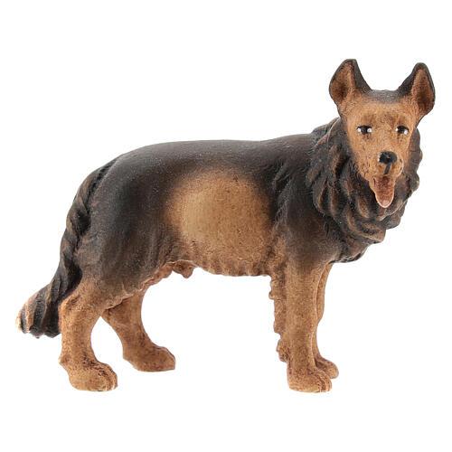 Perro pastor madera pintada belén Kostner 12 cm 1