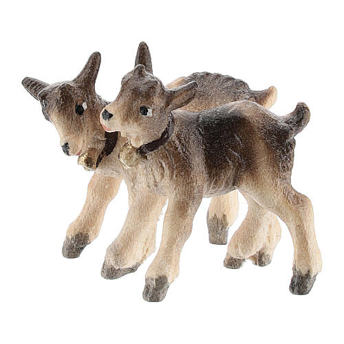 Kostner Nativity Scene 12 cm, young goats, in painted wood 1