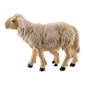 Pecora e agnello in piedi legno dipinto Kostner presepe 9,5 cm s3