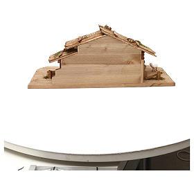 Cabane Sainte Nuit avec set 13 pcs bois peint crèche Kostner 9,5 cm s7