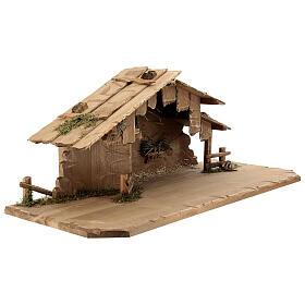 Cabane Sainte Nuit et set 12 pcs bois peint crèche Rainell 11 cm s8