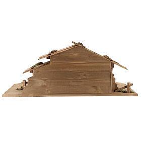 Cabane Sainte Nuit et set 12 pcs bois peint crèche Rainell 11 cm s9