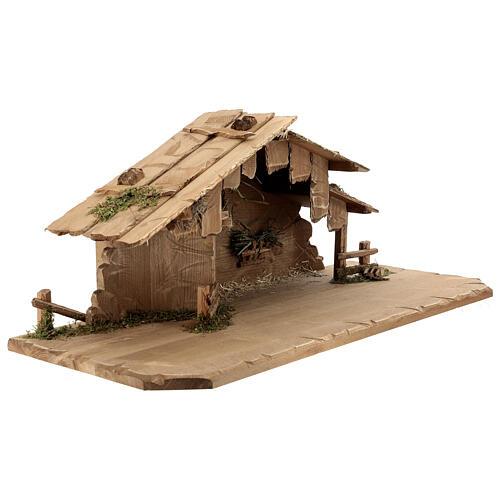 Cabane Sainte Nuit et set 12 pcs bois peint crèche Rainell 11 cm 8