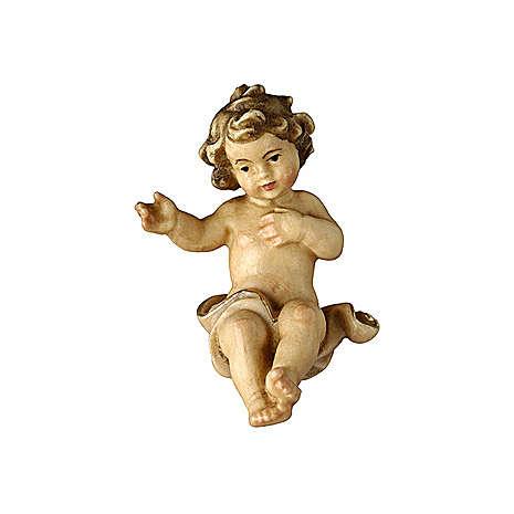 Bambinello legno dipinto presepe Rainell 11 cm Val Gardena 4