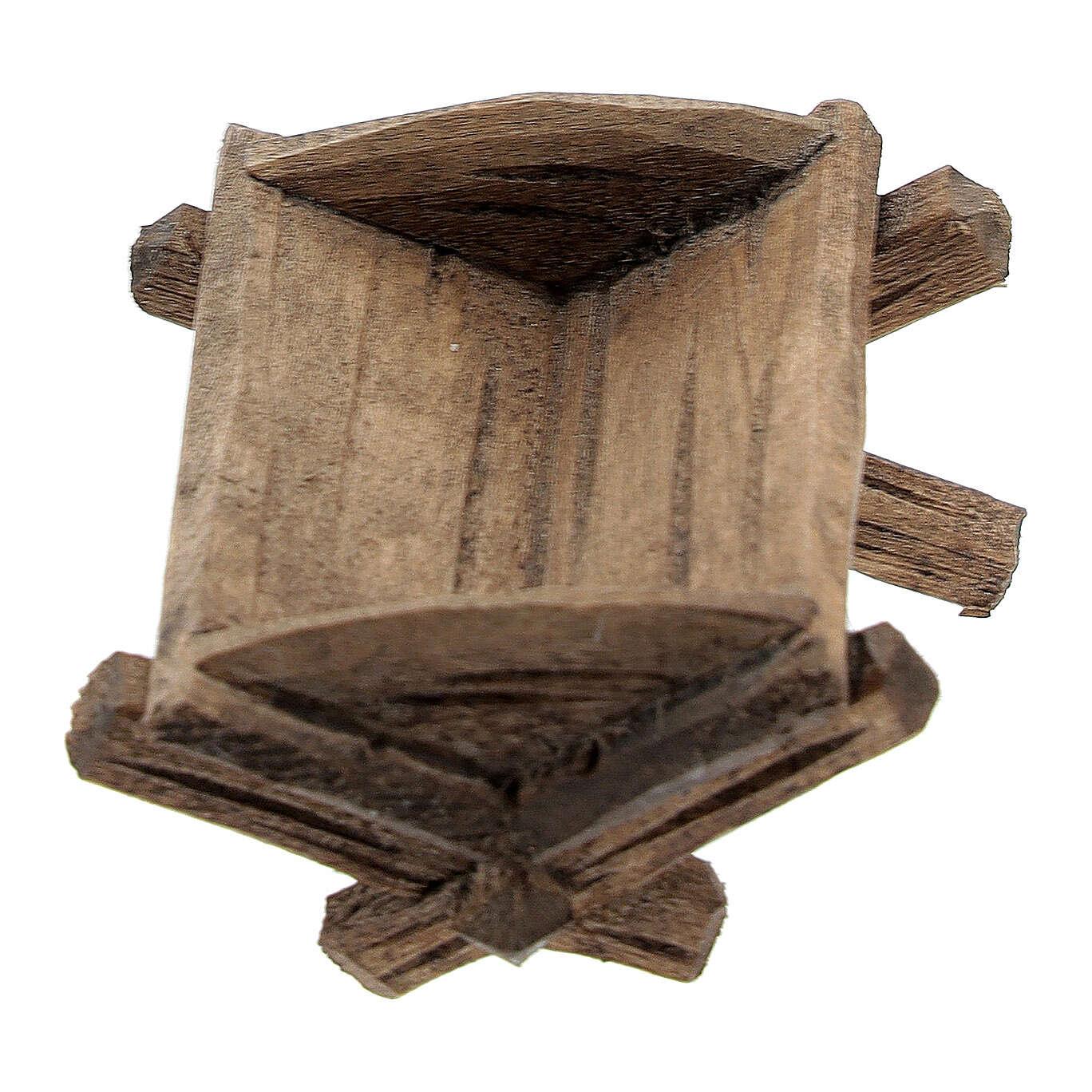 Culla semplice Gesù bambino legno dipinto presepe Rainell 9 cm 4