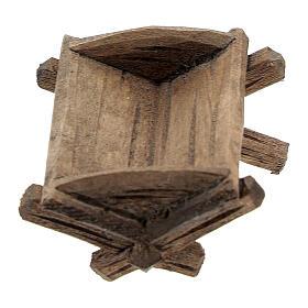 Culla semplice Gesù bambino legno dipinto presepe Rainell 9 cm s1