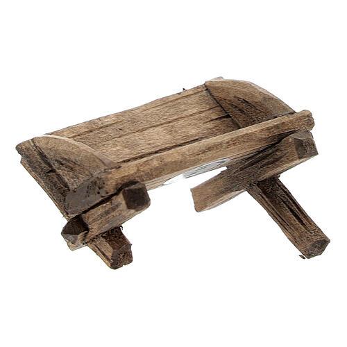 Culla semplice Gesù bambino legno dipinto presepe Rainell 9 cm 2