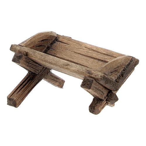 Culla semplice Gesù bambino legno dipinto presepe Rainell 9 cm 3