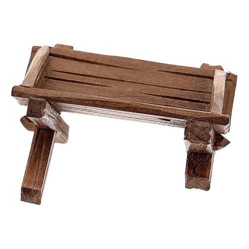 Cuna simple para Niño Jesús madera pintada belén Rainell 11 cm 3