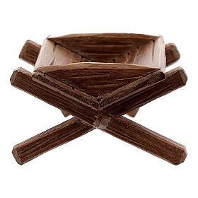 Culla semplice per Gesù bambino legno dipinto presepe Rainell 11 cm s4