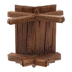 Culla semplice per Gesù bambino legno dipinto presepe Rainell 11 cm s5