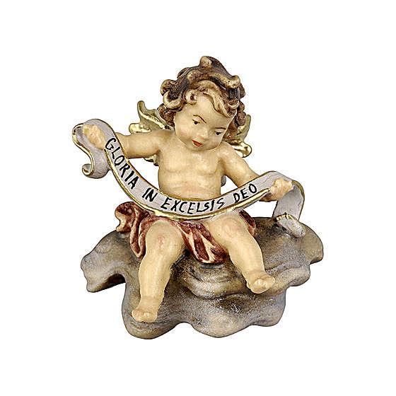 Amorcillo con cinta madera pintada belén Rainell 9 cm Val Gardena 4