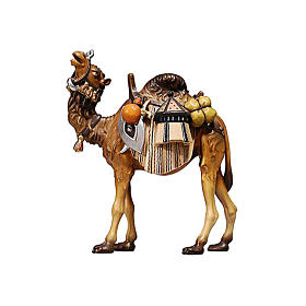 Chameau avec bagages bois peint crèche Rainell 9 cm Val Gardena s1