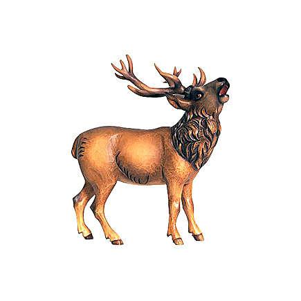 Cerf bois peint crèche Rainell 9 cm Val Gardena 4