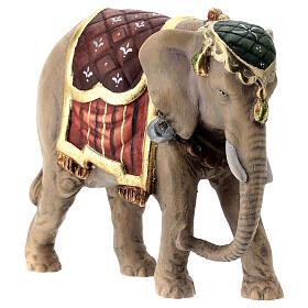 Elefante madera pintada belén Val Gardena Rainell 11 cm s4