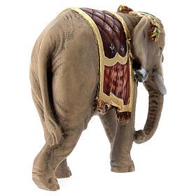 Elefante madera pintada belén Val Gardena Rainell 11 cm s6