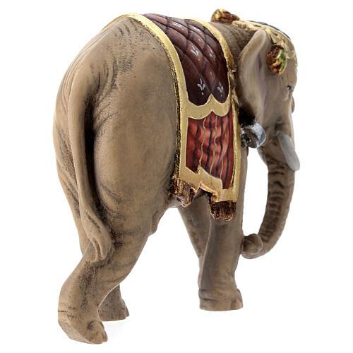 Elefante madera pintada belén Val Gardena Rainell 11 cm 6