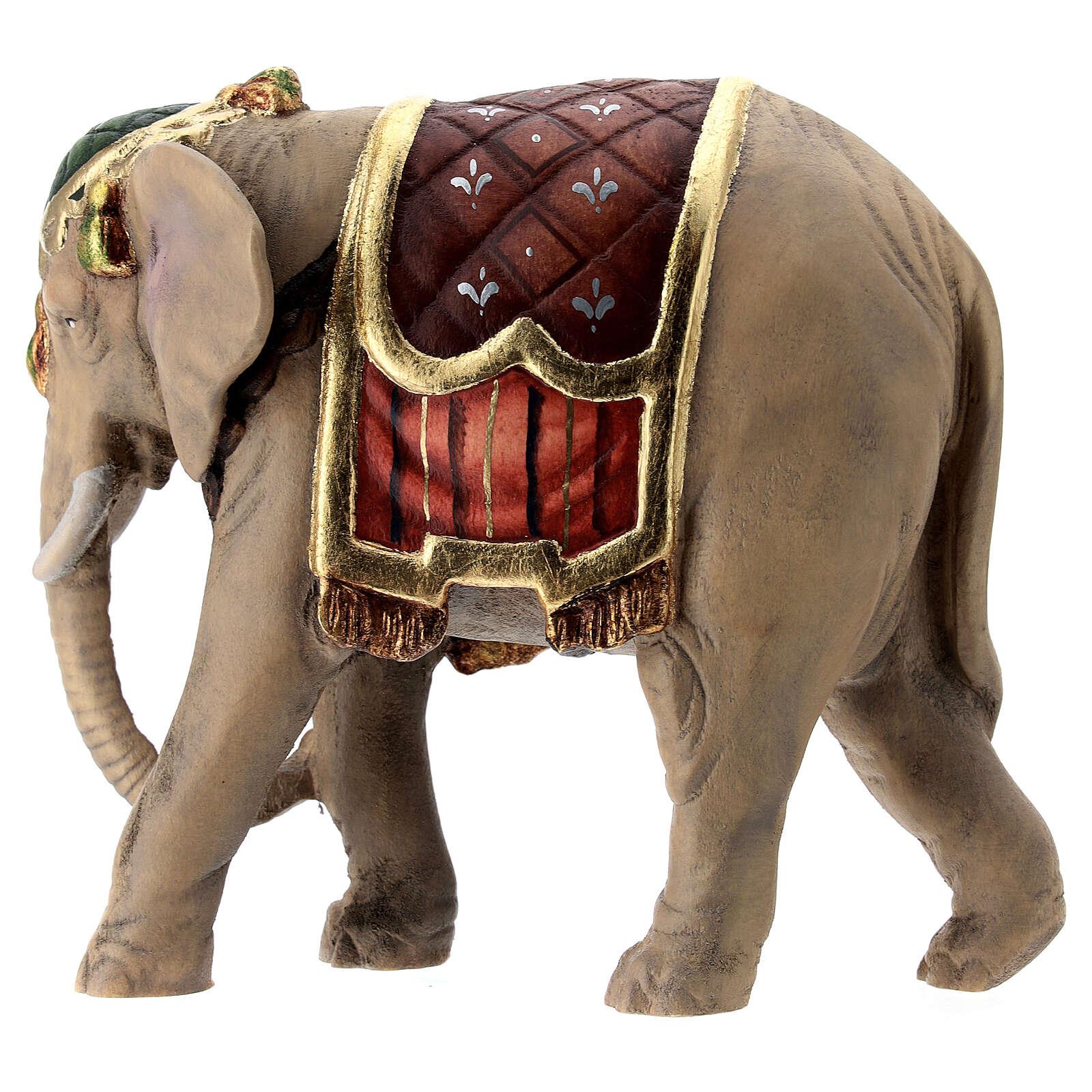 Elefante legno dipinto presepe Val Gardena Rainell 11 cm 4