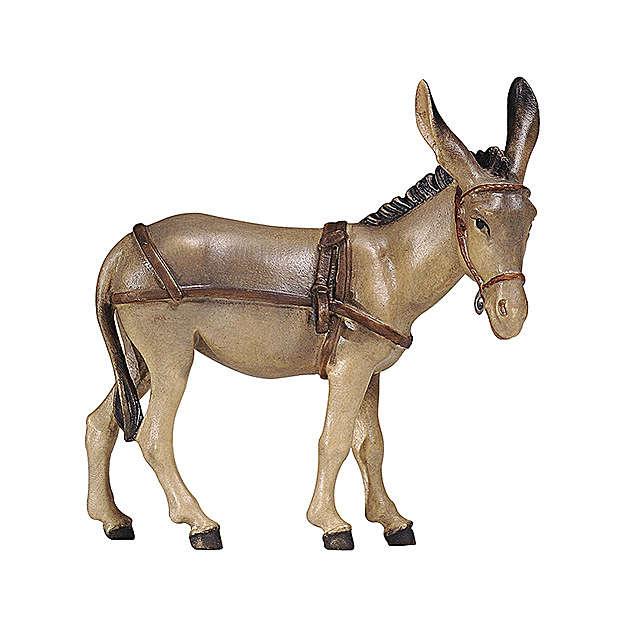 Asino per carretto legno dipinto presepe Rainell 9 cm Valgardena 4
