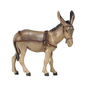 Asino per carretto legno dipinto presepe Rainell 9 cm Valgardena s1