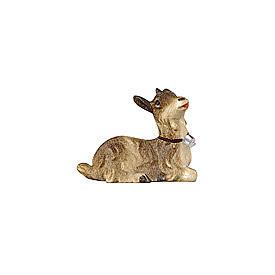 Chevrette couchée bois peint crèche Rainell 9 cm Val Gardena s1
