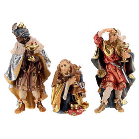 Holy Night hut 12 pieces in painted wood for Rainell Nativity Scene 9 cm s6