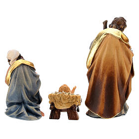 Holy Night hut 12 pieces in painted wood for Rainell Nativity Scene 9 cm s14