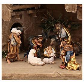 Capanna Notte Sacra set 12 pezzi legno dipinto presepe Rainell 9 cm s2