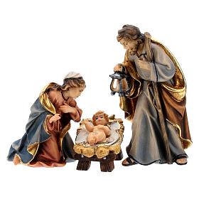 Capanna Notte Sacra set 12 pezzi legno dipinto presepe Rainell 9 cm s5