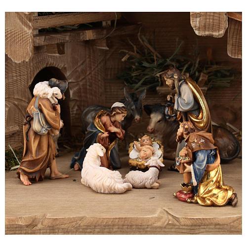 Capanna Notte Sacra set 12 pezzi legno dipinto presepe Rainell 9 cm 2