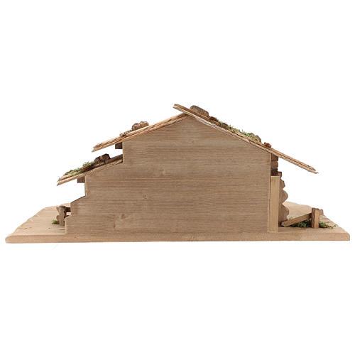 Capanna Notte Sacra set 12 pezzi legno dipinto presepe Rainell 9 cm 12