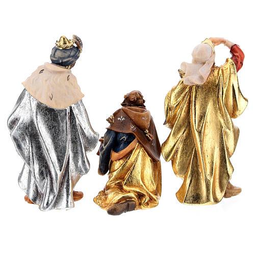 Capanna Notte Sacra set 12 pezzi legno dipinto presepe Rainell 9 cm 15