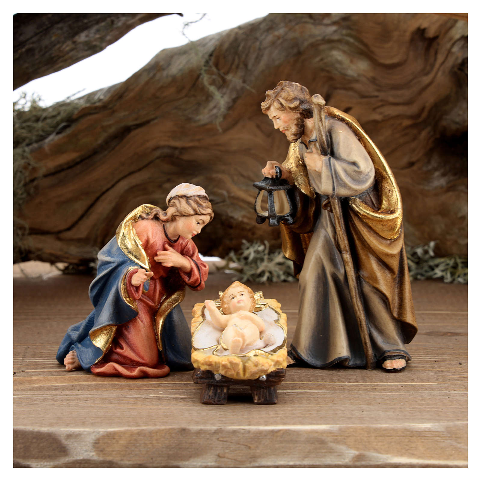 Large hut 12 pieces in painted wood from Val Gardena for Rainell Nativity Scene 11 cm 4