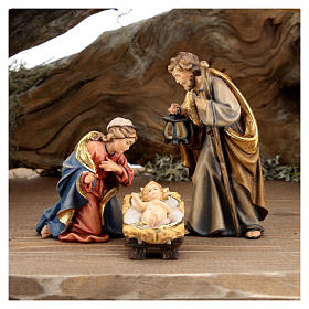 Large hut 12 pieces in painted wood from Val Gardena for Rainell Nativity Scene 11 cm s3
